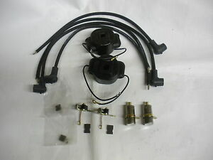 John Deere 2 Cylinder Pony Motor Tune Up Kit Coil Points Condensors Wires New