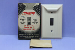 New Vintage Illuminated Lighted Wall Toggle Light Switch Cover Plate Unique