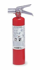 Kidde Halotron Fire Extinguisher With 2 5 Lb Capacity And 9 Sec Discharge Time
