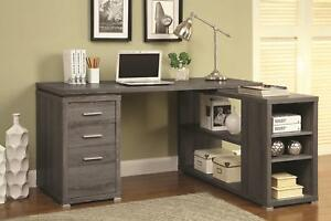 Coaster Yvette Weathered Grey Executive Desk Weathered Grey Casual