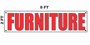 Furniture Banner Sign 2x8 For Business Shop Building Store Front
