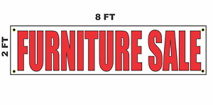 Furniture Sale Banner Sign 2x8 For Business Shop Building Store Front