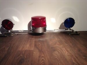 Rare 1970s Dietz Police Car Light Bar Assembly Working Condition