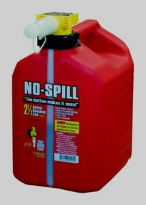 No spill 1405 Poly Gasoline Fuel Gas Can Carb Epa Compliant 2 5 Gallon Red New