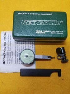 Federal Testmaster T 1 Machinist Tools Dial Indicator 001 Graduation In Case