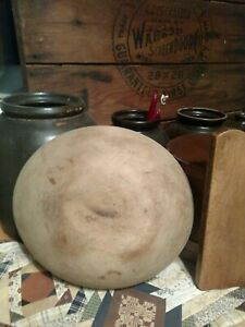 11 5 X 10 5 X 3 Tall Out Of Round Primitive Dough Bowl Antique Wood Bowl