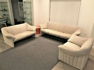 Mario Bellini 3 Piece Le Stelle Lounge Loveseat And Sofa
