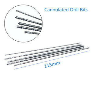 Stainless Steel Cannulated Drill Bits Hollow Veterinary Orthopedics Instruments