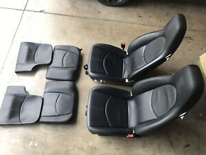 05 12 997 Porsche Carrera Power Black Lether Plus Rear Seats All 4 Complete