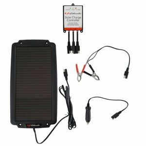 Schumacher Solar Battery Maintainer Trickle Charger W Controller Kit 2 4w 12v