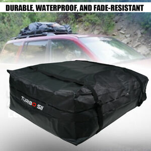 Cargo Waterproof Van Suv Roof Top Rack Carrier Soft Sided Luggage Bag 15 Cubic