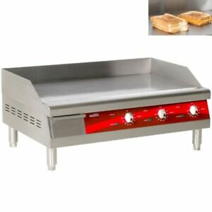 30 Avantco Electric Commercial Countertop Steel Flat Top Griddle Grill 240v