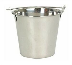 Thunder Group Slpal013 Swing Handle Stainless Utility Pail 13 quart Set Of 12