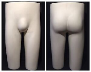 Vintage Jcpenney Retail Display Male Mannequin Butt Hip Self Standing Dress Form