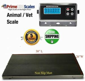 New 660 Lb Vet Scale Animal Scale Livestock Scale Stainless Steel Platter