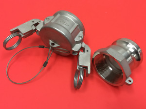 2 Fitting W 2 Npt Cam Lock Fittings Stainless Steel