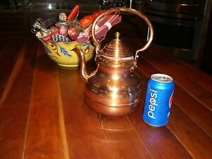 Antique Copper Kettle Tea Kettle 2