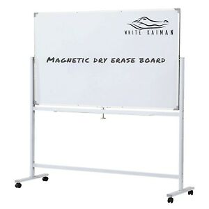 Double Sided Magnetic Dry Erase Whiteboard W Metal Stand 4 Locking Wheels 4 x2
