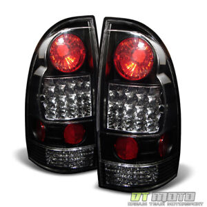 For Blk 2005 2015 Toyota Tacoma Pickup Lumileds Led Tail Lights Lamps Left right