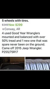 Jeep Wrangler Tires And Wheels P255 75r 17