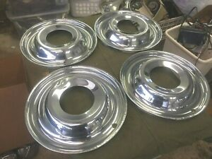 Set Of 4 Large 15 Beauty Rings Ford Cadillac Packard Buick Hudson Pickup Gmc