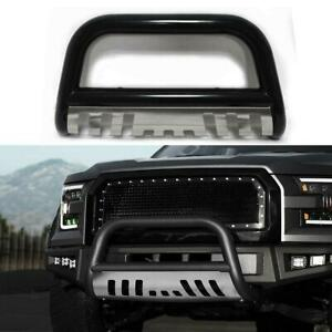 3 Black Front Push Bumper Bull Bar Grille Guard Skid Plate For 2004up Ford F150