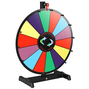18 Dry Erase Spinning Color Prize Wheel Tabletop Fortune Carnival Game Editable