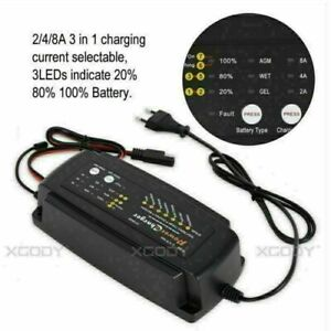 Car Battery Charger Maintainer Tender Motorcycle Automobile Trickle 12v 2 4 8a