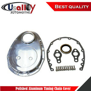 Suits Sbc Chevy 283 305 327 350 Polished Aluminum Timing Chain Cover