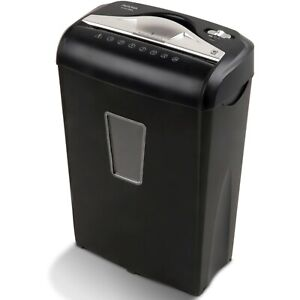 Paper Credit Card Paperclips Shredder Aurora High Security 8 sheet Micro cut