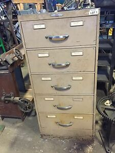 Giant Vintage Index Card File Cabinet 5 Drawer File 19 x28 x41 1 2 Metal Steel