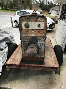 1964 Lincoln Sa 200 Pipeliner Redface Welder Parts On Trailer