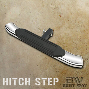 Universal 5 Inch Curved S s Hitch Step Bumper Guard For Cabs With 2 Receiver