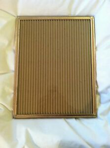 Vintage Brass Picture Frame Art Deco Style Table Or Wall Large For 11 X 14