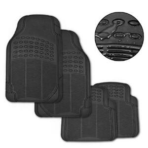 New Car Floor Mats Rubber 4pc Set Anti Skid And Wear Resistant 3 48 Kg Black