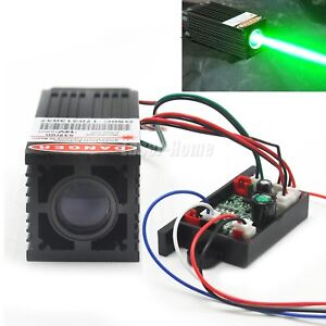 532nm 50mw Green Dot Fat Light Beam 12v Laser Diode Module W Driver Ttl Fan
