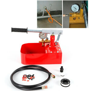 1000psi Manual Pressure Test Pump Iron Pump Tester Body High precision 70kg Red
