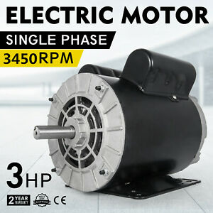 Cm03256 Electric Motor 3 Hp 1 Phase 3450rpm 5 8 shaft Dripproof Small Shop 60 Hz