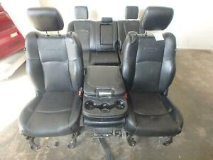 11 18 Dodge 1500 2500 3500 Laramie Front Rear Seat Console Black Leather Power