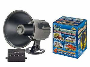 Emergency Siren Air Horn Powerful Truck Sounds 20 Watts W Mount Kit Included