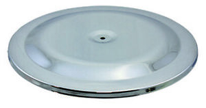 Chrome Classic Steel Retro 14 Round Air Cleaner Top Lid Only Chevy Ford