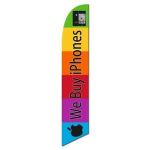 We Buy Iphones Custom Desiged Swooper Banner Bow Flag And Pole Only Windless