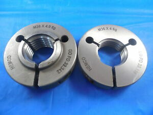 M36 X 4 0 6g Metric Thread Ring Gages 36 0 Go No Go P d s 33 342