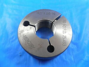 M27 X 2 0 6g Metric Thread Ring Gage 27 0 No Go Only P d 25 493 Inspection