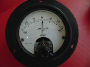 Vintage Weston Electrical Instrument Model 301 D c Ammeter Gauge Meter Nos