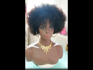 Premium Fiberglass Female Head Mannequin With Half Bust For Wigs And Displays