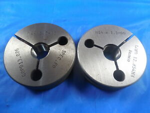 M14 X 1 5 6g Metric Thread Ring Gages 14 0 Go No Go P d s 13 026