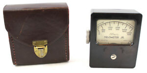 Vintage Alnor Velometer Jr Air Velocity Meter With Leather Case
