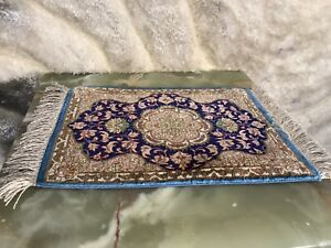 Small New 10x15 Inch Authentic Persian Rug Hand Knotted 100 Silk Carpet