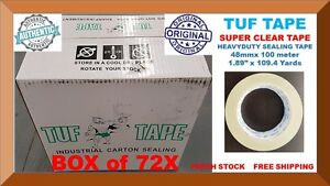 72 Sealing Packing Packaging Tuf Tape Heavy Duty Clear Tape 2 X 110 Yards 2 Mil